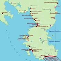 Карта курорта Бодрум