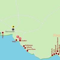Карта курорта Анталья