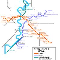 Схема метро в Риме
