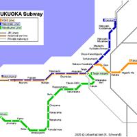 Схема метро в Фукуоке