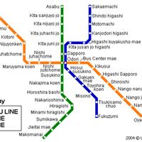 Схема метро в Саппоро