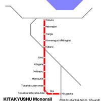 Схема метро в Китакюсю