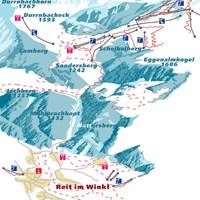 Схема трасс в Райт-им-Винкль (Баварские Альпы)
