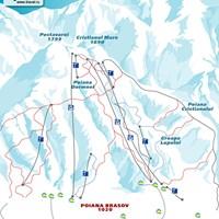 Схема трасс в Пояна-Брашове