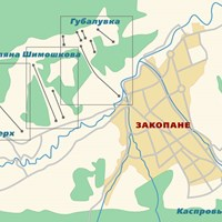 Схема зон катания в Закопане