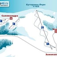 Схема трасс в Буторовом Верхе