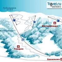 Схема трасс в Губалувке