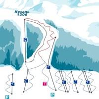 Схема трасс в Носале