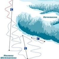 Схема трасс в Поляне Шимошковой