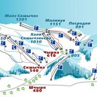 Схема трасс в Шчырке