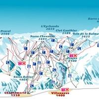Схема трасс в Серр-Шевалье