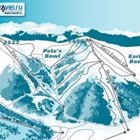 Схема трасс в Вэйл-Блу-Скай
