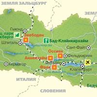 Карта Каринтии