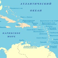 Карта Карибского бассейна