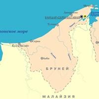 Карта Брунея