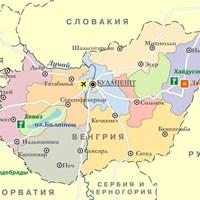 Карта Венгрии