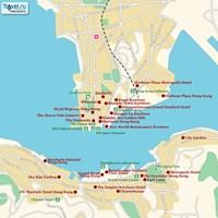 Карта Гонконга