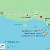 Карта курорта Ла-Романа