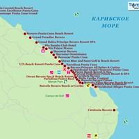 Карта курорта Пунта-Кана