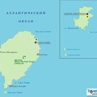 Карта Сан-Томе и Принсипи