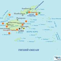 Карта Фиджи