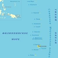 Карта Марианских островов