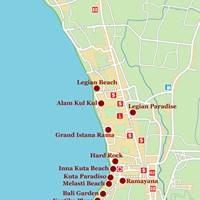 Карта курорта Кута