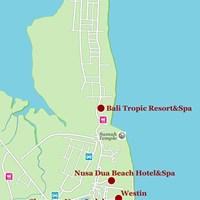 Карта курорта Нуса-Дуа