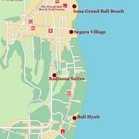 Карта курорта Санур