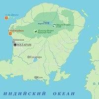 Карта острова Ломбок
