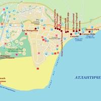 Карта юга острова Гран-Канария