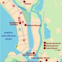 Карта курорта Санья