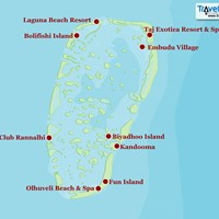 Карта атолла Южный Мале