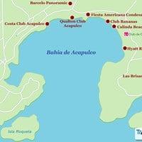 Карта курорта Акапулько