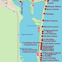 Карта курорта Канкун