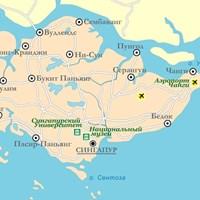 Карта курортов Сингапура