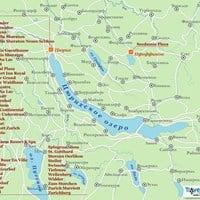 Карта курортов Цюрихского озера