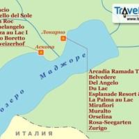 Карта курортов озера Маджоре