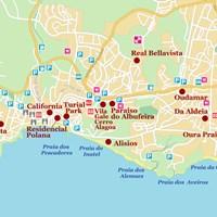 Карта курорта Албуфейра
