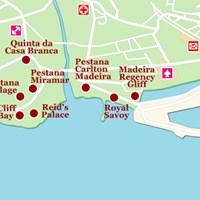 Карта курорта Фуншал