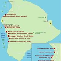 Карта острова Гавайи