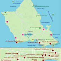 Карта острова Оаху