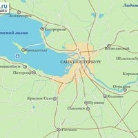 Карта окрестностей Санкт-Петербурга