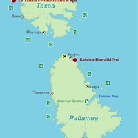Карта островов Тахаа и Райатеа