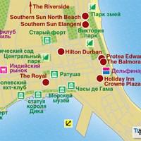 Карта г.Дурбан