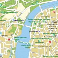Карта центра Праги