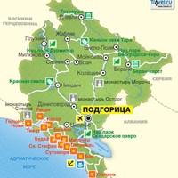 Карта Черногории