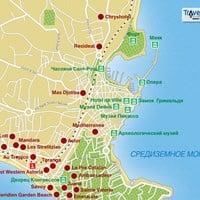 Карта курорта Антиб-Жуан-Ле-Пен