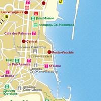 Карта курорта Бастия