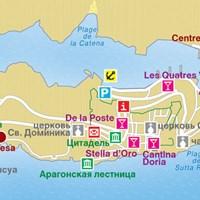 Карта курорта Бонифачо